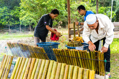 The making of traditional Malay food, Royalty Free Stock Photos