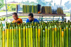 The making of traditional Malay food, Stock Images