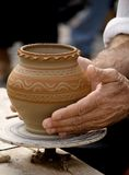 Making traditional pottery