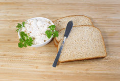 Making Tuna Fish Sandwich Stock Photo