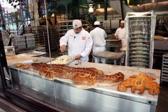 Making Turtle Bread.Boudin Bakery. Stock Image