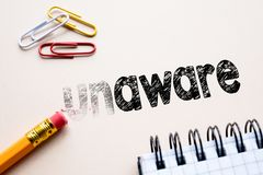 Free Making Unaware In To Aware By Eraser Stock Photo - 123705470