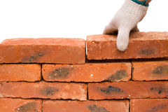 Making up a brick wall Stock Image
