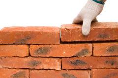 Making up a brick wall Stock Image