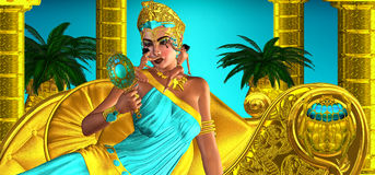 Making Up Egypt. They said she often made decisions that changed the very axis of the world while enjoying the gentle caressing of cosmetic brushes that applied Royalty Free Stock Images