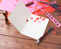 Making valentine card Stock Image