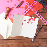 Making valentine card Royalty Free Stock Image