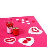 Making Valentine Cards Stock Image