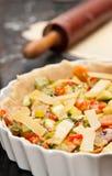 Making vegetable pie Royalty Free Stock Image