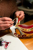 Making of venice carnival mask Royalty Free Stock Photos