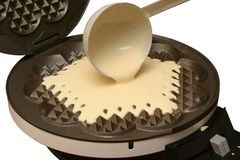 Making waffles Stock Photos