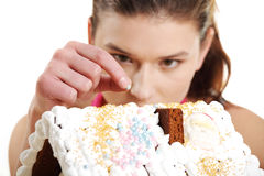 Making winter gingerbread Royalty Free Stock Images