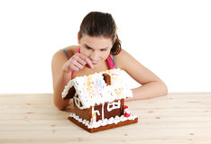 Making winter gingerbread Royalty Free Stock Photo