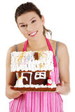 Making winter gingerbread Royalty Free Stock Photos