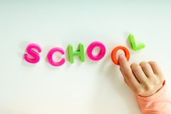 Making word �school� Stock Photography