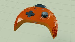 Making the Xbox controller of the blocks. UHD - 4K - 3D Rendering vector illustration