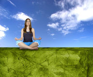 Making Yoga Royalty Free Stock Images