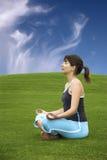 Making Yoga Royalty Free Stock Images