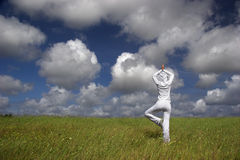 Making Yoga Royalty Free Stock Photography