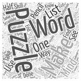 Making your own mind puzzles word cloud concept word cloud concept vector background Royalty Free Stock Photos