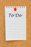 Making your to do list Royalty Free Stock Image