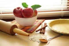 Makings de la empanada de Apple Fotografía de archivo