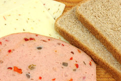 Makings of sandwich Royalty Free Stock Images