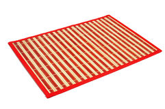 A makisu, a japanese bamboo mat Stock Photos