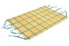 A makisu, a japanese bamboo mat Stock Image