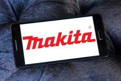 Makita Corporation logo. Logo of Makita Corporation on samsung mobile. Makita is a manufacturer of power tools Stock Photography