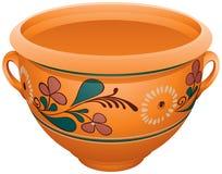 Makitra, tradycyjny ceramiczny garncarstwo dla mleka, vareniki, pelmeni, pieróg zdjęcia stock
