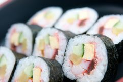 Makizushi Roll in the lunch time Stock Photography