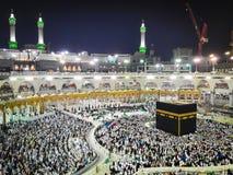 Kaaba in Makkah, Saudi Arabia. Makkah, December 2017 - Muslim in the holy city of Makkah performing tawaf around the kaaba during Hajj and Umrah Royalty Free Stock Image
