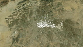 Makkah holy city from space stock footage