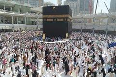Makkah Kaaba麦加朝圣穆斯林 免版税库存照片