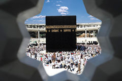 Makkah Kaaba Hadsch-Moslems Stockfotos