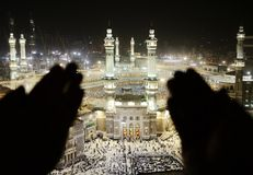Makkah Kaaba Hajj Muslims royalty free stock photo
