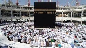 Makkah Kaaba Hajj Muslims stock video