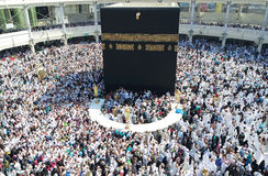 Makkah Kaaba Hajj Muslims Stock Images