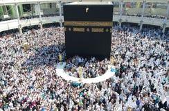 Makkah Kaaba Hajj Muslims. MECCA, SAUDI ARABIA - FEBRUARY 2: Muslim pilgrims, from all around the World, revolving around the Kaaba on February 2, 2015 in Mecca Stock Images