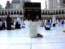 Makkah Kaaba Hajjmuselmaner Arkivbilder