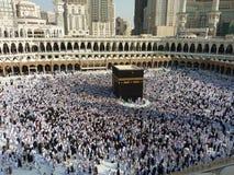 Makkah Kaaba Hajjmuselmaner Royaltyfri Fotografi