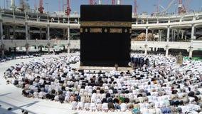 Makkah Kaaba HajjMuslims arkivfilmer