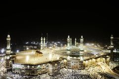 Makkah Kaaba heilige Moschee stockbild
