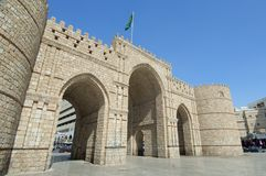 Makkah-Tor in alter Stadt Dschiddas stockbild