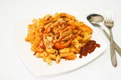 Makkaroni von köstlichem Stockfoto