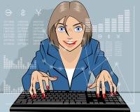 Makler, der auf der Aktie handelt Lizenzfreies Stockfoto