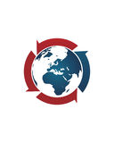 Makler des globalen Geschäfts extrahieren 2 Betriebsversicherungszusammenfassung vektor abbildung
