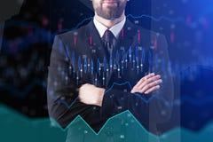 Makler i analityki pojęcie Zdjęcie Stock