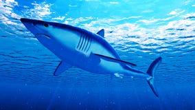 A mako shark. 3d rendered illustration of a mako shark stock illustration